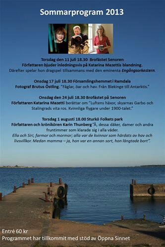 Sommarprat i Karlskrona